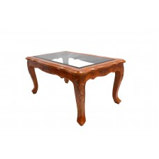 Teak Wood Center Table with Glass VTP365