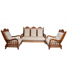 Premium Design Teak Wood Sofa set (3+1+1) VSFTW0211
