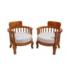 Premium Design Teak Wood Sofa Single Seater 2 Nos VAWSST5