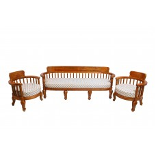 Premium Design Teak Wood Sofa Set 3 (6 Feet)+1+1) VSF0224