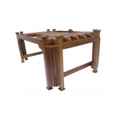 Premium Design Glass Top Teak Wood Dining Table (6ftx4Ft) VDT0124