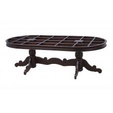 Premium Design Glass Top Rose Wood Dining Table (8Ftx4Ft) VDT0210