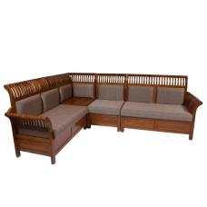 Corner Sofa Sets 5 Seater  Teak Wood VSF352