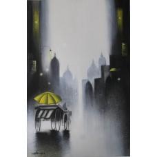 Artist Somnath Mixed Media On Paper 44 Cm X 29.5 Cm VAMA125