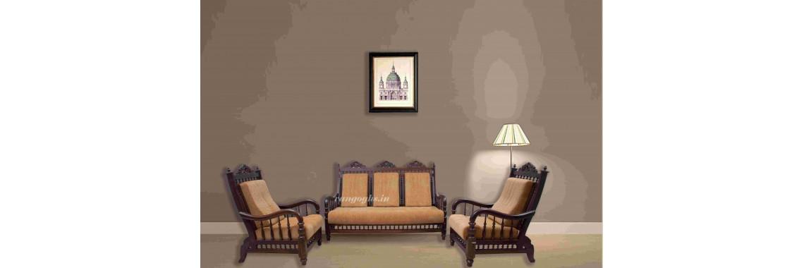 Premium Design Rose Wood Sofa Set