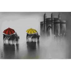 Artist Somnath Bothe Mixed media on paper ,VAPMSB 17